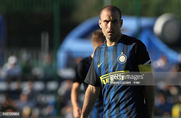 Rodrigo Palacio of FC Internazionale Milano looks on during day Four of the FC Internazionale training camp on July 9 2016 in Bruneck Italy