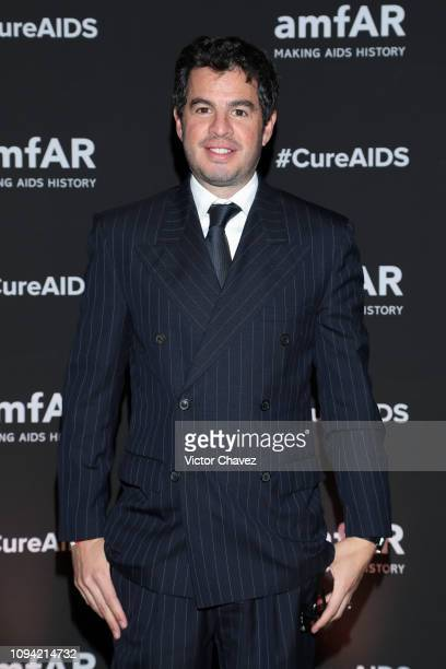 Rodrigo Penafiel poses during the amfAR gala dinner at the house of collector and museum patron Eugenio López on February 5 2019 in Mexico City Mexico