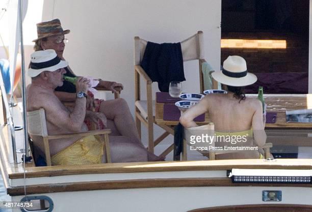 Rodrigo Rato and Alicia Gonzalez are seen on July 23 2015 in Mallorca Spain