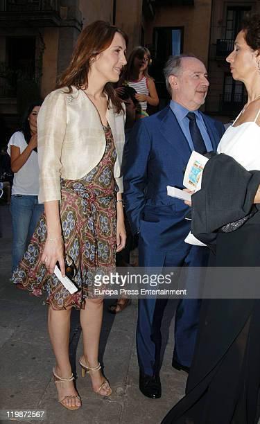 Rodrigo Rato and his girlfriend Alicia Gonzalez attend Adriana Antich Ambattle Jose Antich's daughther and Eugenio Rodriguez weedding at santa Maria...