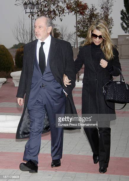 Rodrigo Rato and Patricia Rato attend the funeral chapel for Ramon Rato at Tres Cantos Chapel on January 15 2012 in Madrid Spain Ramon Rato is...