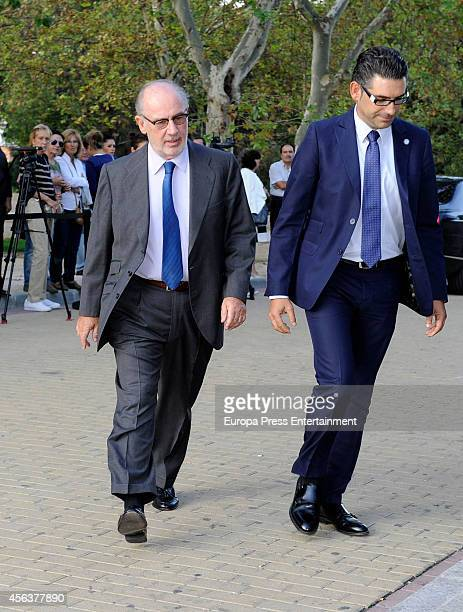 Rodrigo Rato attends the funeral chapel for Miguel Boyer minister of Economy Treasury and Commerce from 1982 to 1985 at San Isidro Morgue on...