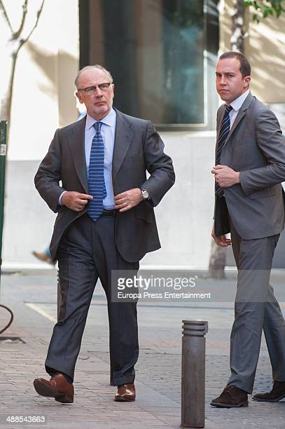 Rodrigo Rato attends the private homage for the director of Royal History Academy and Marquis of Castrillon Gonzalo Anes at Royal History Academy on...