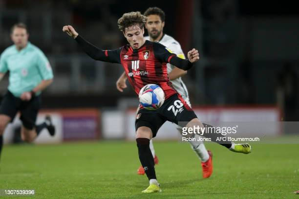 Rodrigo Riquelme of Bournemouth during the Sky Bet Championship match between AFC Bournemouth and Swansea City at Vitality Stadium on March 16, 2021...