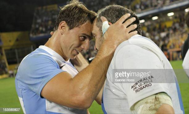 Rodrigo Roncero of Argentina in his farewell game after a match between Argentina and Australia as part of the 6th rounf of The Rugby Championship...