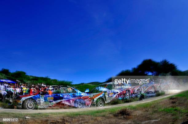 Rodrigo Salgado y Diodoro Delgado of Mexico in action during the second and last day of the Rally of Nations Mexico 2009 on July 12 2009 in Leon...