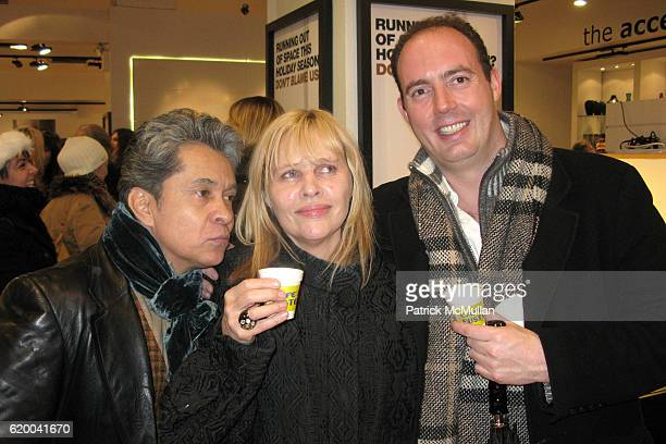 Rodrigo Salomon Pamela Willowby and Matthew Ames attend BoConcept and KolDesign Asian Holiday Party at BoConcept on December 16 2008 in New York City