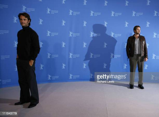 Rodrigo Santoro and Gerard Butler during The 57th Annual Berlinale International Film Festival 300 Photocall and Press Conference in Berlin Germany