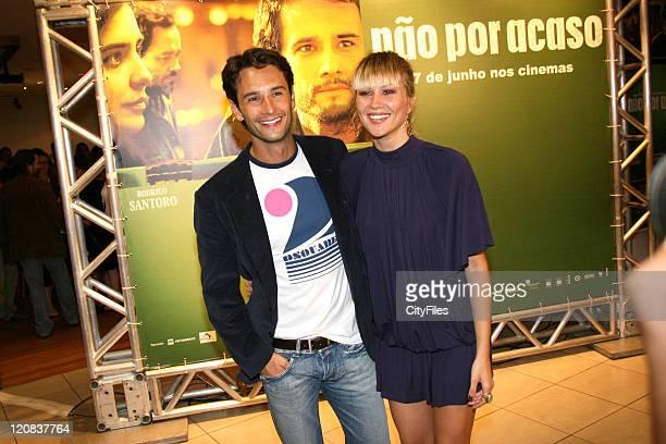 """Rodrigo Santoro and girlfriend Ellen Jabour during """"Nao Por Acaso"""" - Rio de Janeiro Premiere at 000007LIS5523070522 in Rio De Janeiro, Brazil."""