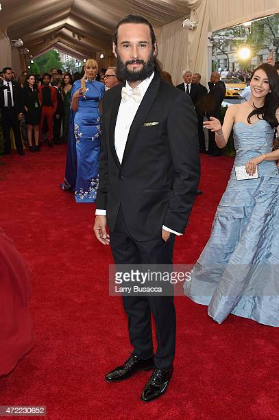 Rodrigo Santoro attends the China Through The Looking Glass Costume Institute Benefit Gala at the Metropolitan Museum of Art on May 4 2015 in New...