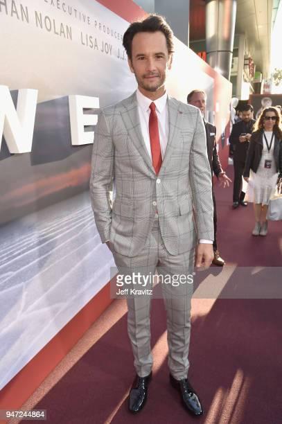 Rodrigo Santoro attends the Los Angeles Season 2 premiere of the HBO Drama Series WESTWORLD at The Cinerama Dome on April 16 2018 in Los Angeles...
