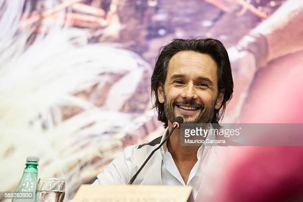 Rodrigo Santoro attends the Photocall and Press Conference for the Brazil Premiere of the Paramount Pictures title 'BenHur' on August 2 2016 at Hotel...