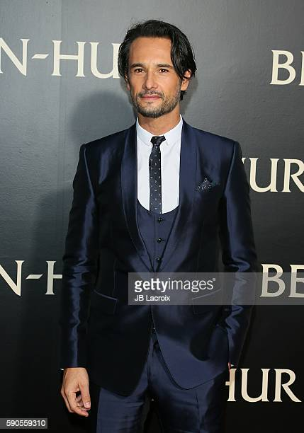Rodrigo Santoro attends the premiere of Paramount Pictures' 'BenHur' on August 16 2016 in Hollywood California
