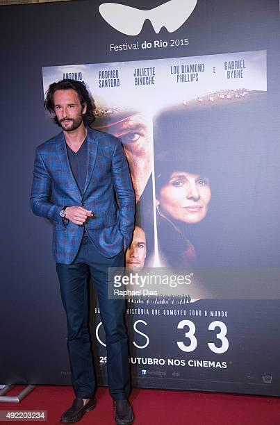 Rodrigo Santoro attends the premiere of 'The 33' on October 10 2015 in Rio de Janeiro Brazil