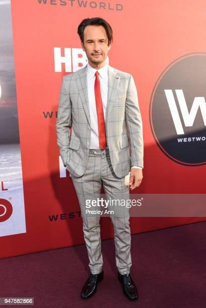Rodrigo Santoro attends Westworld Season 2 Los Angeles Premiere on April 16 2018 in Los Angeles California