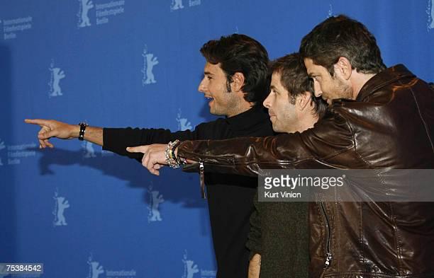 Rodrigo Santoro director Zack Snyder and Gerard Butler