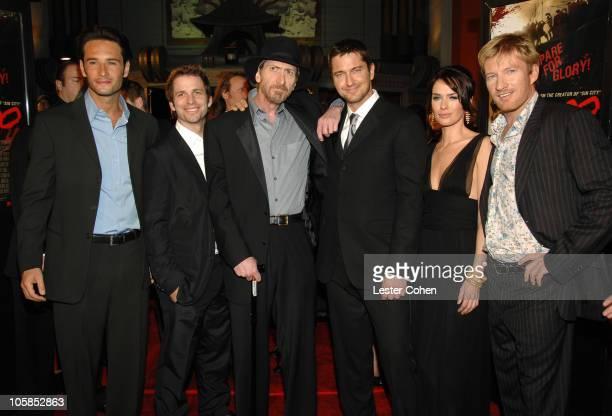 Rodrigo Santoro, Zack Snyder, Frank Miller, Gerard Butler, Lena Headey and David Wenham