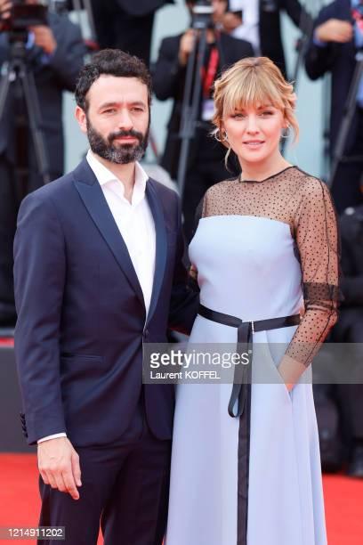 Rodrigo Sorogoyen and Marta Nieto walk the red carpet ahead of the closing ceremony of the 76th Venice Film Festival at Sala Grande on September 07...