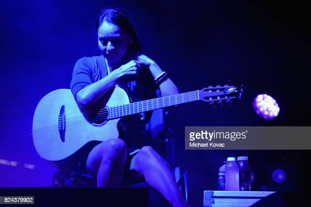 Rodrigo y Gabriela perform onstage during the Annenberg Foundation and KCRW's Sound In Focus concert at Annenberg Space For Photography on July 29...