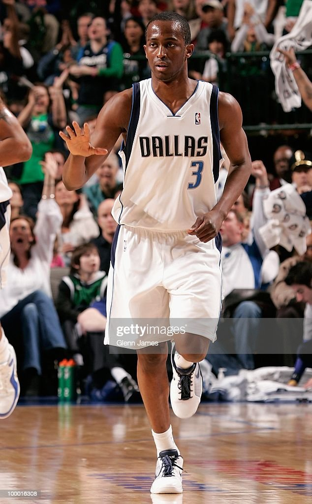 Rodrigue Beaubois #3 of the Dallas Mavericks runs down the court during the game against the Sacramento Kings at the American Airlines Center on March 5, 2010 in Dallas, Texas. The Mavericks won 108-100.