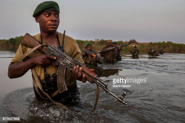 Rodrigue Katembo Central Section Warden Virunga National Park leads a combined team of ICCN Congolese conservation rangers and members of the...