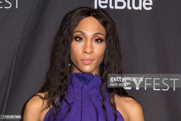 MJ Rodriguez arrives for Paley Center for Media's 2019 PaleyFest LA panel and screening of 'Pose' on March 23 2019 at the Dolby Theater in Hollywood