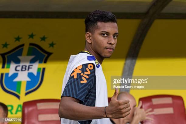 Rodrygo Goes of Brazil during the match between Brazil and Korea Republic on November 19 2019 at Mohammed Bin Zayed Stadium in Abu Dhabi United Arab...