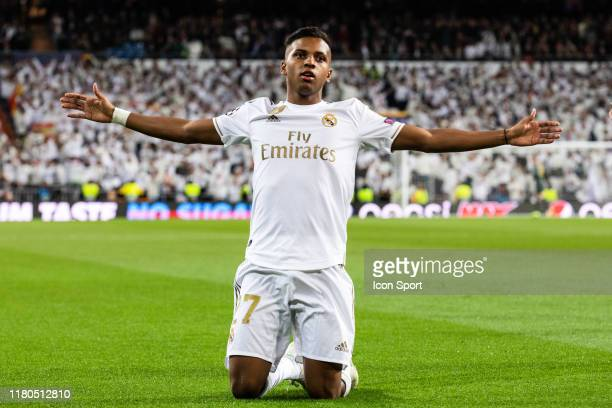 Rodrygo Goes of Real Madrid during the Champions League match between Real Madrid and Galatasaray at Bernabeu on November 6 2019 in Madrid Spain