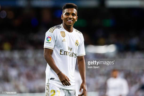 Rodrygo Goes of Real Madrid during the Liga match between Real Madrid and Real Betis at Estadio Santiago Bernabeu on November 2 2019 in Madrid Spain