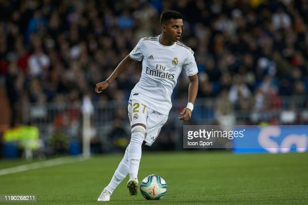 Rodrygo Goes of Real Madrid during the Liga match between Real Madrid and Athletic Bilbao on December 22 2019 in Madrid Spain