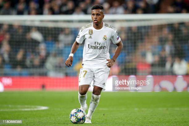 Rodrygo of Real Madrid during the UEFA Champions League match between Real Madrid v Galatasaray at the Santiago Bernabeu on November 6 2019 in Madrid...