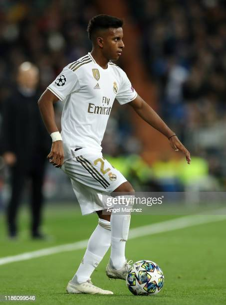 Rodrygo of Real Madrid in action during the UEFA Champions League group A match between Real Madrid and Galatasaray at Bernabeu on November 06 2019...