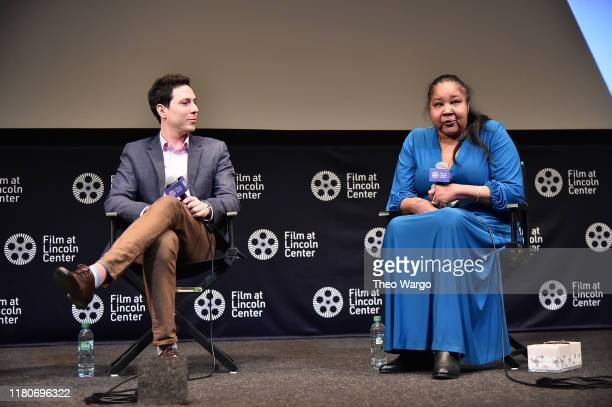 Roee Messinger and Esaw Garner attend the 57th New York Film Festival American Trial The Eric Garner Story at Walter Reade Theater on October 12 2019...