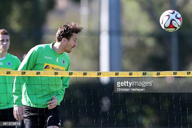 Roel Brouwers of Borussia Moenchengladbach during a training session at day four of Borussia Moenchengladbach training camp on January 11 2015 in...