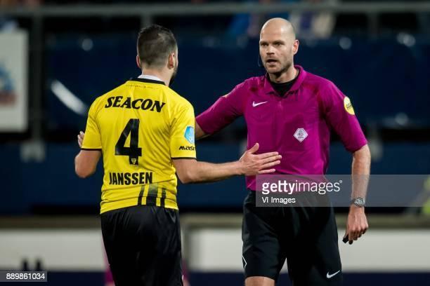 Roel Janssen of VVV Rob Dieperink during the Dutch Eredivisie match between sc Heerenveen and VVV Venlo at Abe Lenstra Stadium on December 09 2017 in...