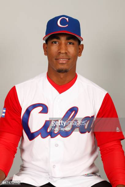 Roel Santos of Team Cuba poses for a headshot at the Kyocera Dome on Thursday March 2 2017 in Osaka Japan