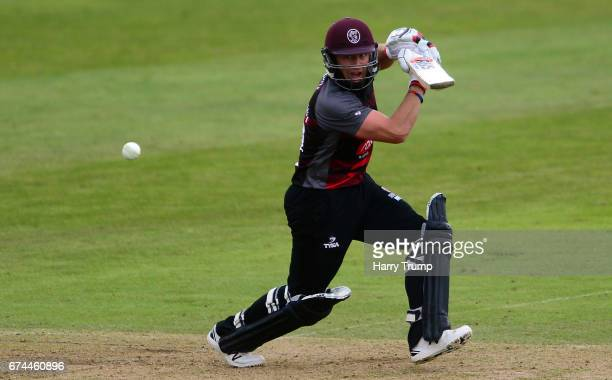 Roelof Van Der Merwe of Somerset bats during the Royal London OneDay Cup between Somerset and Surrey at The Cooper Associates County Ground on April...