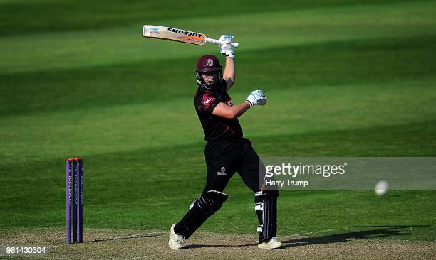 Roelof Van Der Merwe of Somerset bats during the Royal London OneDay Cup match between Somerset and Sussex at The Cooper Associates County Ground on...