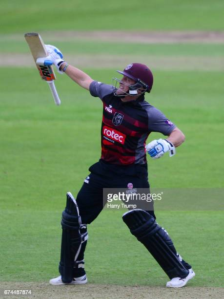 Roelof Van Der Merwe of Somerset celebrates victory during the Royal London OneDay Cup between Somerset and Surrey at The Cooper Associates County...