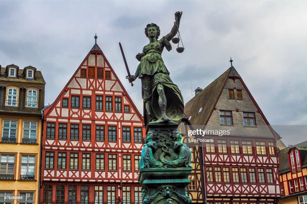 Roemer Old City Center Frankfurt Hessen Germany Stock Photo - Hessen germany