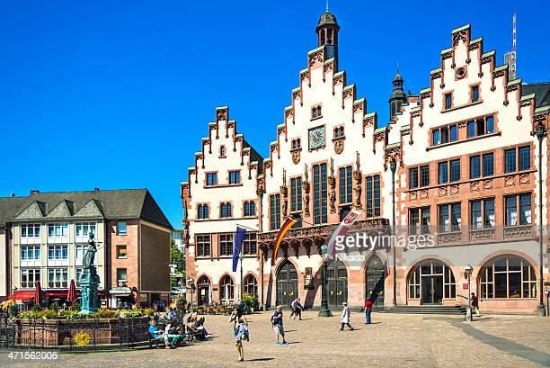 Roemer square mit dem Rathaus von Frankfurt, Deutschland