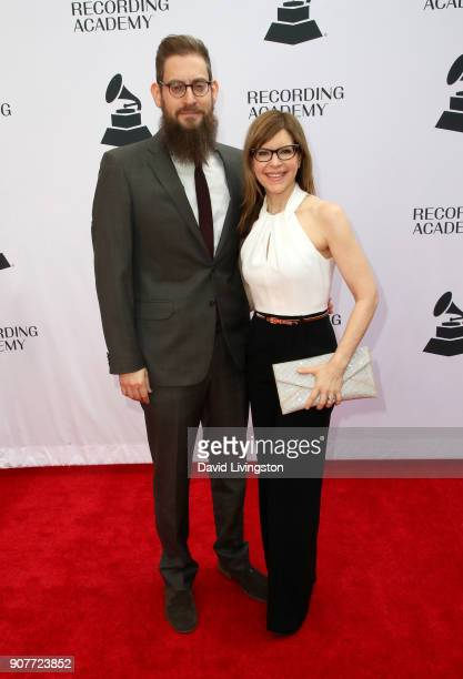 Roey Hershkovitz and singer Lisa Loeb attend the GRAMMY nominee reception honoring 60th Annual GRAMMY Awards nominees at Fig Olive on January 20 2018...