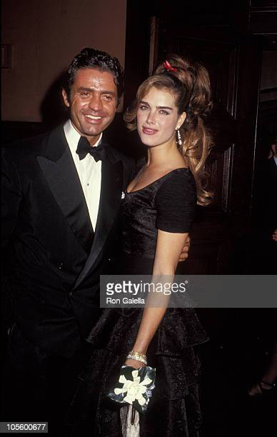 Roffredo Gaetani and Brooke Shields during Valentino Thirty Years of Magic Gala Retrospective at 67th Street Armory in New York City New York United...