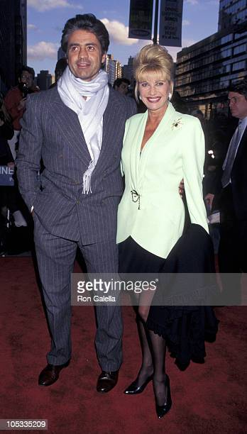 """Roffredo Gaetani and Ivana Trump during Premiere of """"Les Miserables"""" at Sony Lincoln Center in New York City, New York, United States."""
