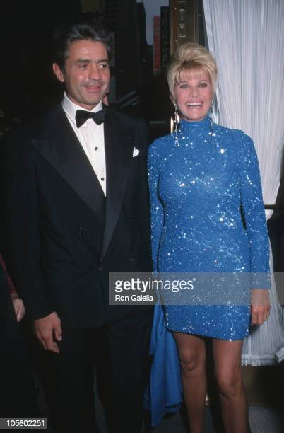 Roffredo Gaetani and Ivana Trump during The Music Man Opening Night April 27 2000 at Neil Simon Theater in New York City New York United States
