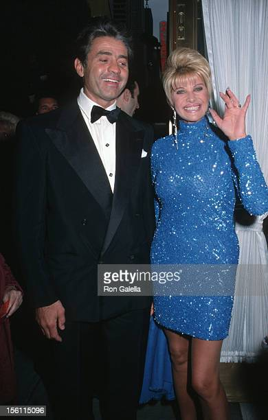 Roffredo Gaetani and Ivana Trump during 'The Music Man' Opening Night April 27 2000 at Neil Simon Theater in New York City New York United States