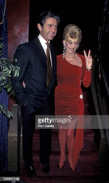 Roffredo Gaetani and Ivana Trump during Valentine's Day And Birthday Party For Ivanka Trump at Chaos in New York City, New York, United States.