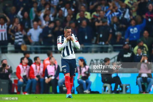 Rogelio Funes Mori of Monterrey celebrates after scoring the second goal of his team during the Final first leg match between Monterrey and America...