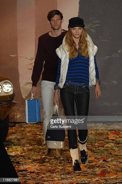 RJ Rogenski and Fabiana Semprebom wearing Lacoste Fall 2007