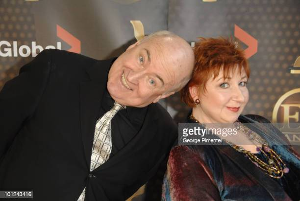 Roger Abbot and Luba Goy from Royal Canadian Air Farce attend The 22nd Annual Gemini Awards at the Conexus Arts Centre on October 28, 2007 in Regina,...